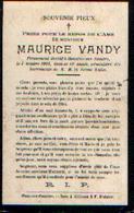 Souvenir Mortuaire VANDY Maurice (1891-1904) Mort à MOUSTIER-SUR-SAMBRE - Images Religieuses