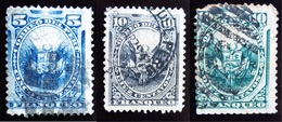 1876 Pérou Yt 21a, 22 , 79a . Coat Of Arms . Oblitérés Used - Pérou