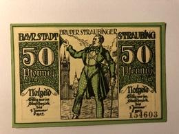Allemagne Notgeld Straubing 50 Pfennig - [ 3] 1918-1933 : République De Weimar