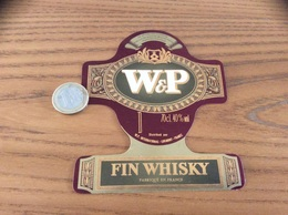 Etiquette « FIN WHISKY - W&P - W.P. INTERNATIONAL - LORMONT (33)» - Whisky