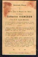 Souvenir Mortuaire VIGNERON Catherine (1830-1901) ép. MARCHAL, A. Morte à JEMEPPE-SUR-SAMBRE - Images Religieuses