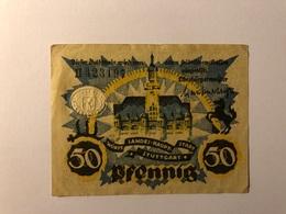 Allemagne Notgeld Stuttgart 50 Pfennig - [ 3] 1918-1933 : République De Weimar