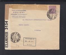 Allied Military Postage Italy Lettera 1944 Censura Britanica E Tedesca - 4. 1944-45 Repubblica Sociale