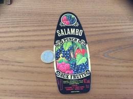 Etiquette « PUNCH AUX FRUITS - SALAMBO - LIQUEUR TEISSEDRE -  BORDEAUX (33)» - Etiquettes