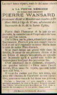 Souvenir Mortuaire WANSARD Pierre (1878-1905) Mort à MOUSTIER -SUR-SAMBRE - Images Religieuses
