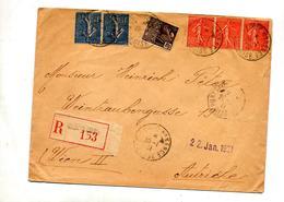 Lettre Recommandee Pontoise Sur Semeuse Expo Coloniale - Postmark Collection (Covers)
