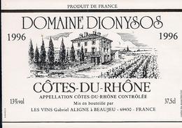 COTES DU RHONE  DOMAINE DIONYSOS 1996 (3) - Côtes Du Rhône