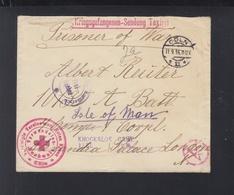 Kriegsgefangenensendung Köln 1916 Nach London Weiter Isle Of Man Knockaloe Camp - Storia Postale