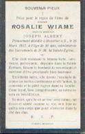 Souvenir Mortuaire WIAME Rosalie (1835-1915) Vve ALBERT, J. Morte à MOUSTIER -SUR-SAMBRE - Images Religieuses