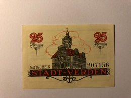 Allemagne Notgeld Verden 25 Pfennig - [ 3] 1918-1933 : République De Weimar