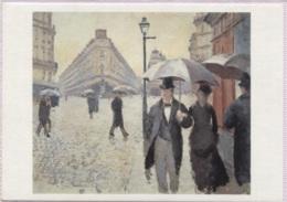 CPM - PARIS Par Les PEINTRES - CAILLEBOTTE - Temps De Pluie Au Carrefour Des Rues Turin Et Moscou - Edition Hazan - Autres