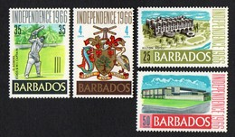 Barbados.  1966 Independence. SG 356-359. MNH - Barbades (1966-...)