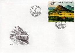 CZECH REPUBLIC  - 2009 The Ceske Stredohori Uplands - Tertiary Volcanic Region  FDC5962 - FDC