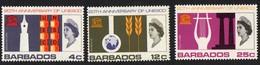 Barbados.   1967 The 20th Anniversary Of UNESCO. SG 360-362. MNH - Barbados (1966-...)