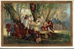 CHROMO MOKA LEROUX  LA RELIGION DES GAULOIS - Trade Cards