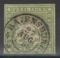Wurtemberg - YT 13 Oblitéré Ravensburg 1858 - Wurtemberg