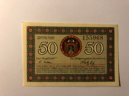 Allemagne Notgeld Verden 50 Pfennig - [ 3] 1918-1933 : République De Weimar