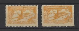 ALGERIE . YT  Colis Postaux  N° 114A Et 116A  Neuf *  1943 - Algérie (1924-1962)