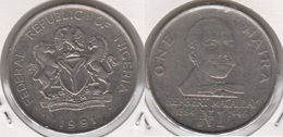Nigeria 1 Naira 1991 KM#14 - Used - Nigeria