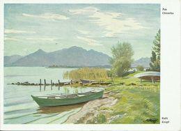 AK Gemälde Rudi Krapf - Am Chiemsee - Farbkarte #2453 - Künstlerkarten