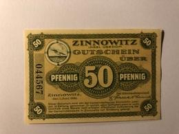 Allemagne Notgeld Zinnowitz 50 Pfennig - [ 3] 1918-1933 : République De Weimar