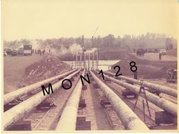 NORMANDIE DIEPPE 1960 - TRAVAUX BARTADEAU ET GUIDAGE CIRCULAIRE ENTREPRISE H.COURBOT -4 PHOTOS CINE LANGON 23,5x18 Cms - Places