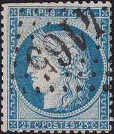 N°60A Oblitéré GC 4165 De Vertus (49), Indice 4, Belle Frappe, Défaut De Dentelure - 1871-1875 Cérès