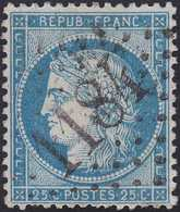 N°60A Oblitéré GC 1184 De Cours (68), Belle Frappe, Indice 4, TB - 1871-1875 Cérès