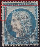 N°60A Avec Nombreuses Variétés Sur Tous Les Filets, Spectaculaire, Position 142D3, TB - 1871-1875 Cérès