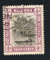 1907 13. März Scene On River Mi BN 19 Sn BN 19 Gestempelt O - Brunei (...-1984)