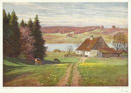AK Gemälde Paul Hey - Vorfrühling Am See - Farbkarte #2456 - Hey, Paul