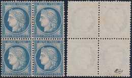 N°60C Bloc De 4 Neuf, Centrage Parfait, TTB. - 1871-1875 Cérès