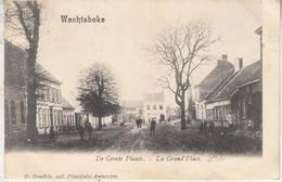 Wachtebeke - De Groote Plaats - Geanimeerd - 1904 - D. Hendrix, Antwerpen - Wachtebeke