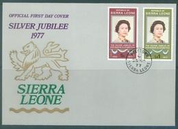 SIERRA LEONE -  FDC - 28.11.1977 - SILVER JUBILEE ELIZABETH II - Yv 403-404 SG 597-598 Mi 567-568 -  Lot 18890 - Maldives (1965-...)
