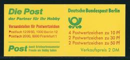 """Markenheftchen """"Burgen Und Schlösser 1977"""" MiNr. 10 Ba OZ Mit H-Bl.18 Gestempelt 1000 BERLIN 12 29.11.1980 - Markenheftchen"""
