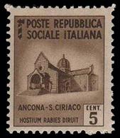 Italia (Repubblica Sociale Italiana) - Monumenti Distrutti: ANCONA: SAN CIRIACO - 5 C - 1944 - Holidays & Tourism