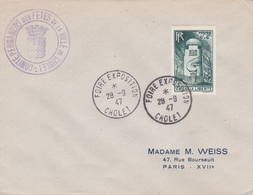 OBLIT. TEMPORAIRE FOIRE EXPO. CHOLET 9/47 - Postmark Collection (Covers)