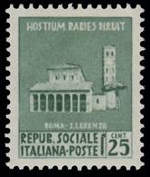 Italia (Repubblica Sociale Italiana) - Monumenti Distrutti: ROMA BASILICA DI SAN LORENZO - 25 C - 1944 - Holidays & Tourism
