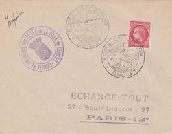 OBLIT. GF ILLUSTRÉE FOIRE EXPO. CHOLET 10/46 - Postmark Collection (Covers)