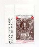 S.M.O.M. - 1997 - Fra Raymond Perellos Y Roccaful - 1 Valore  Bordo Di Foglio Angolare - Nuovo - Vedi Foto - (FDC13837) - Malte (Ordre De)