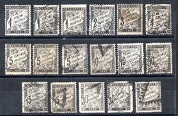 France Frankreich Portomarken Y&T Aus T 10° - T 18°, Alle Zweite Wahl Oder Defekt - 1859-1955 Gebraucht