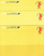 3 Cartes Postale Type Liberté De Gandon - Standard Postcards & Stamped On Demand (before 1995)