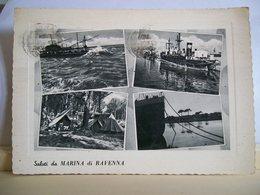 1959 - Saluti Da Marina Di Ravenna - Vedute - Camping - Nave  - Faro Peschereccio - Ed. F.lli Leonardi - Saluti Da.../ Gruss Aus...