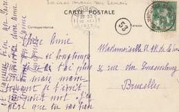 Sainte-Marie SurSemois 1913 Sur CP Rossignol-Le Chateau - Marcofilia