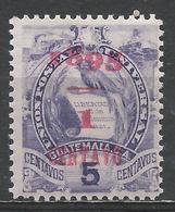 Guatemala 1895, Scott #57 (M) National Emblem * - Guatemala