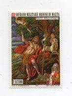 S.M.O.M. - 1973 - San Giovanni Battista - Quadro Di Mattia Preti - 1 Valore - Nuovo - Vedi Foto - (FDC13839) - Malte (Ordre De)