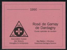 Rare // Etiquette De Vin // Ski // Rosé De Gamay, Association Suisse Des Skieurs Aveugles - Ski