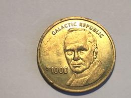 Une Médaille (jeton ) 1999 STAR WARS Monopoly 1000 Galactic - Professionnels / De Société