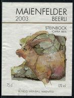 Rare // Etiquette De Vin // Bouquetin // Maienfelder, Steinbock - Etiquettes