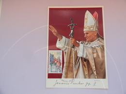CARTE MAXIMUM CARD  PAPE JEAN-PAUL II ITALIE - Célébrités
